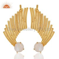 Vintage Look 18 k Gold Plated Chandelier Earrings