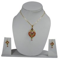 Designer Gold Pendant Set