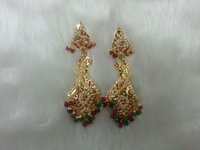 Ladies Fancy Gold Plated Earrings