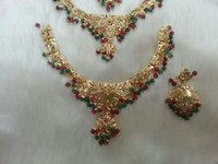 Gold Plated Party Wear Necklace Set
