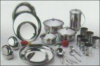 Stainless Steel Rajwadi Dinner Set-51 Pcs