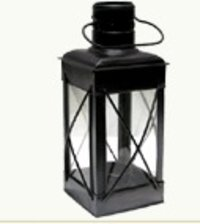 Rectangular Glass Lantern With Copper Antique Finish