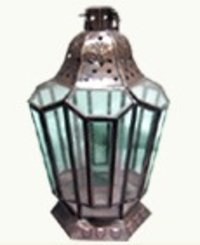 Glass Lantern With Antique Look
