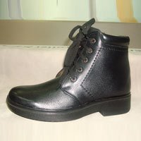 Men Party Wear Black Color Shoe