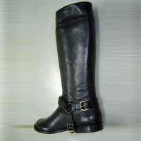 Black Color Ladies Leather Boot