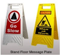 Stand Floor Message Plates