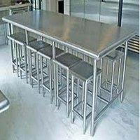 Stainless Steel Dining Table With Chair