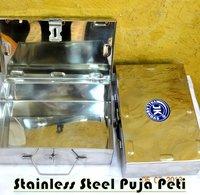 Stainless Steel Puja Peti