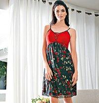 Printed Short Night Dress