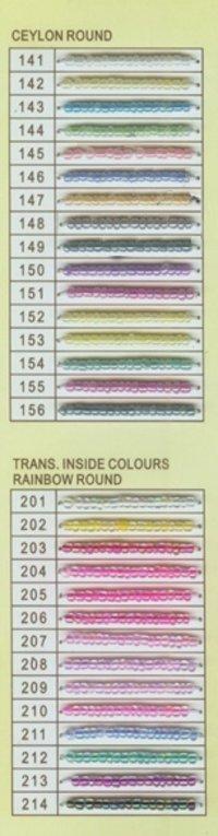 Ceylon and Rainbowed Insidecolors Glass Seed Beads