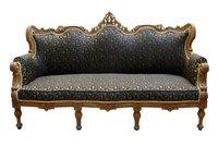 Formal Sofa Hand Carved in Teakwood