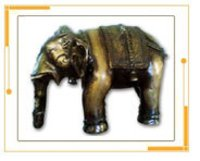 Metal Crafted Elephant Sculpture