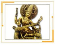 Metal Crafted Saraswati Ji Sculpture