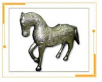 Metal Crafted Horse Sculpture