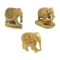 Attractive Wooden Elephant Statues