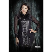 Black Party Wear Top