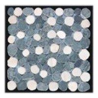 Green White Pebbles