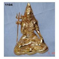 God Shiv Metal Statue