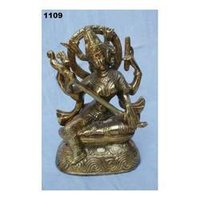 God Saraswati Metal Statues