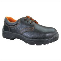 Plain Leather Safety Shoe