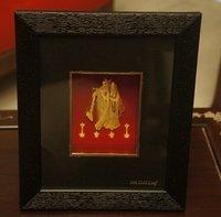 Gold Plated Radha Krishna Statues