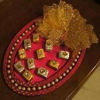 Diwali Gift Pink Oval Platter