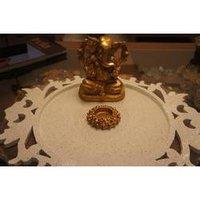 White Ganesha Platter