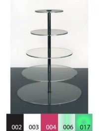 Five Level Acrylic Product Display Stand