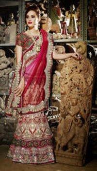 Designer Hand Worked Lehenga Saree