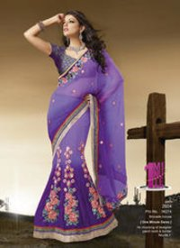 Designer Patch Work Saree