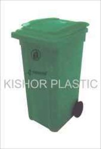 Plastic Industrial Waste Bin With Wheels Injection Moulded