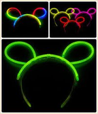 Neon Glow Head Bunny Hair Band
