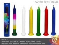 Multi Color with Wax Stand Candles