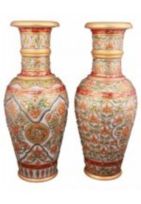 Gold Painted Flower Vases
