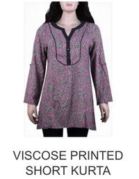 Viscose Printed Short Kurta