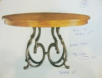 Iron and Wood Top Dining Table