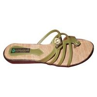 Green Ladies Slippers