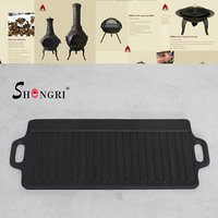 Cast Iron BBQ Grill Pan
