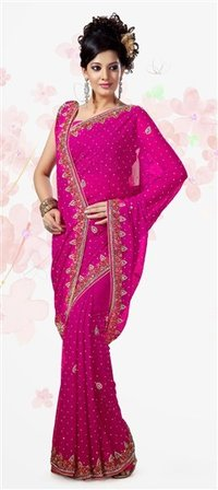 Chiffon Wedding Saree