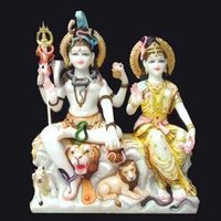 Mighty Lord Shiva Parvati Statues