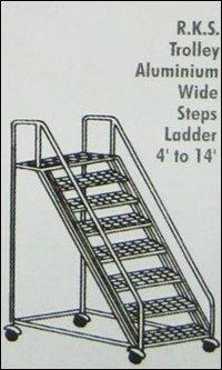 Aluminum Wide Steps Ladder (Model No 511)