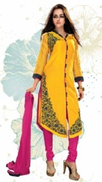 Ladies Yellow Color Suit