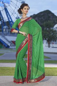 Jequared Chiffon Saree