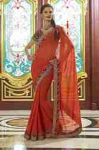 Latest Partywear Chiffon Saree