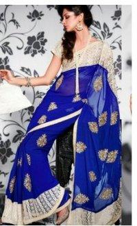 Blue Chiffon Sarees