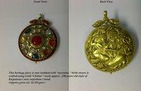 Fancy Kundan Meena Antique Pendant
