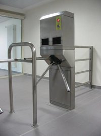 Reliable Hand Disinfection Turnstile