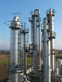 Steel Distillation Column