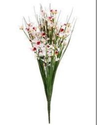 AB Mini Orchid With Grass Artificial Flowers Bunches