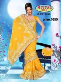 Yellow Fancy Saree